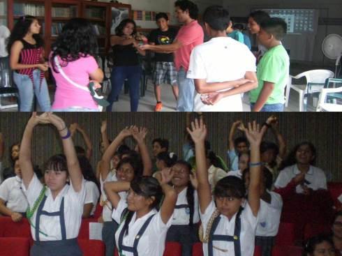 Jóvenes en sesiones de capacitaciones